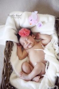 Sepette taçlı bebek fotoğrafı