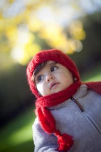 Kırmızı şapkalı kız fotoğrafı