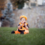 Balkabağı kostümlü bebek
