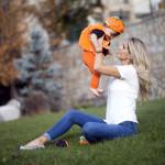 Helloween kostümlü bebek