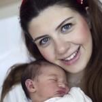 Yeni doğan hastane çekimi