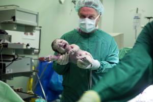 Bebek doktor doğum fotoğrafı