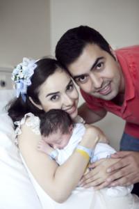 Hastane çekimi doğum fotoğrafı