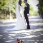 Gelin çiçekli düğün fotoğrafı