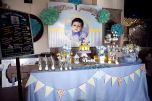 Doğum günü süslü masa fotoğrafı