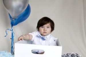 Kutuda bebek fotoğrafı