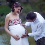 Hamile dış mekan çekimi