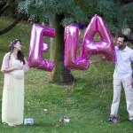 Balonlu hamile fotoğrafı