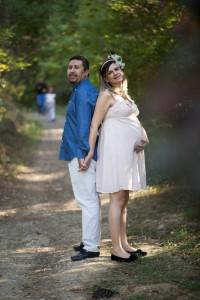 Anne baba hamile fotoğrafı