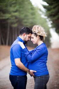 Mavili hamile fotoğrafı