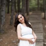 Güzel anne hamile fotoğrafı