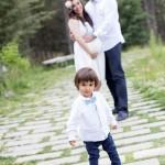 Hamile anne-çocuk fotoğrafı