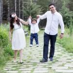 Hamile aile fotoğrafı