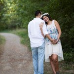 Hamile anne ve baba fotoğrafı