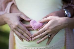 Kalpli hamile fotoğrafı