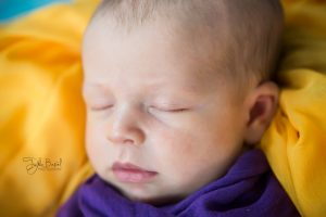 Mor sarı konsept bebek fotoğrafı